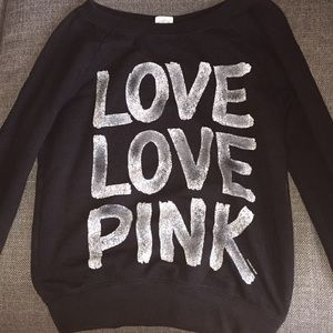Victoria's Secret Black Love Pink Sweatshirt